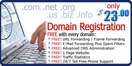 First-Class Domain Registration